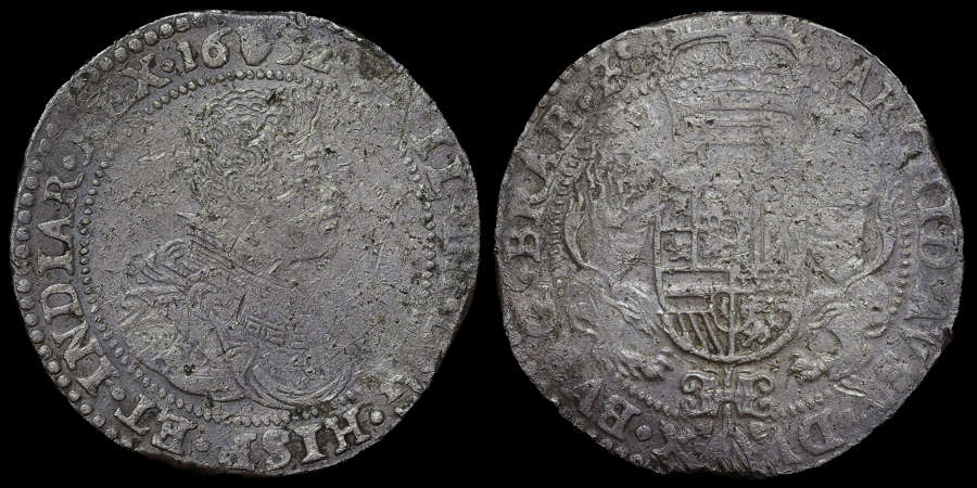 HOLLANDIA WRECK, 1652, PHILIP IV, ANTWERP 1 DUCATON
