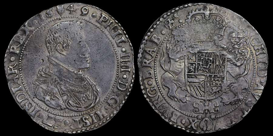 1649, PHILIP IV ANTWERP 1 DUCATON