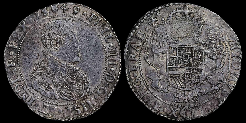 1649, PHILIP IV ANTWERP 1 DUCATON
