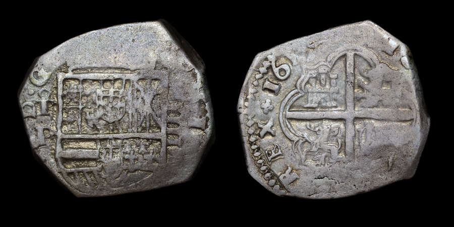 SPAIN, PHILIP III 1617 4 REALES TOLEDO MINT
