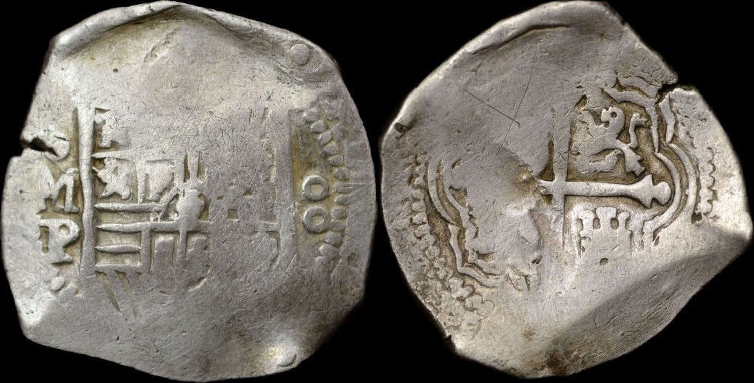 SPAIN, PHILIP IV MEXICO MINT 8 REALES