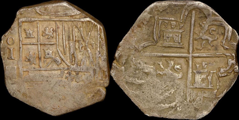 PHILIP II 2 REALES, SEGOVIA MINT