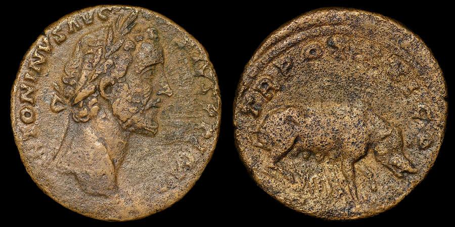 ANTONINUS PIUS SESTERTIUS