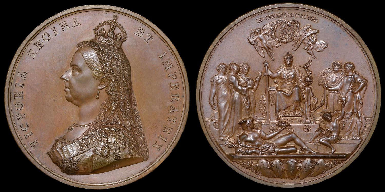 VICTORIA, GOLDEN JUBILEE 1887, LARGE SIZE BRONZE MEDAL