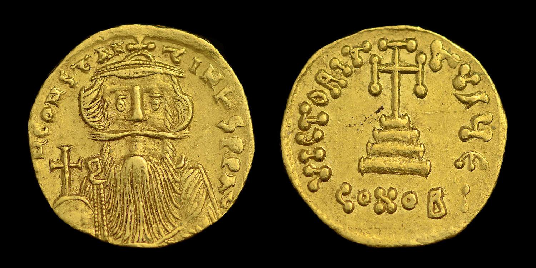 CONSTANS II GOLD SOLIDUS