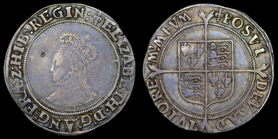 ELIZABETH I, FIRST ISSUE SILVER SHILLING