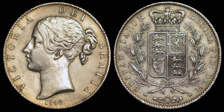 VICTORIA 1847 YOUNG HEAD CROWN XI CINQUEFOIL STOPS