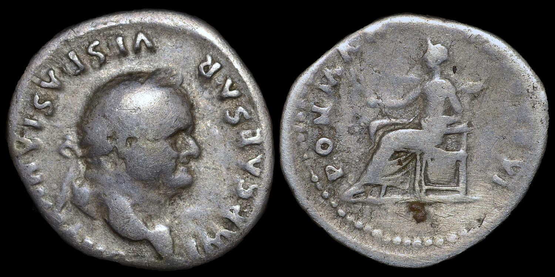VESPASIAN SILVER DENARIUS ROMAN COIN