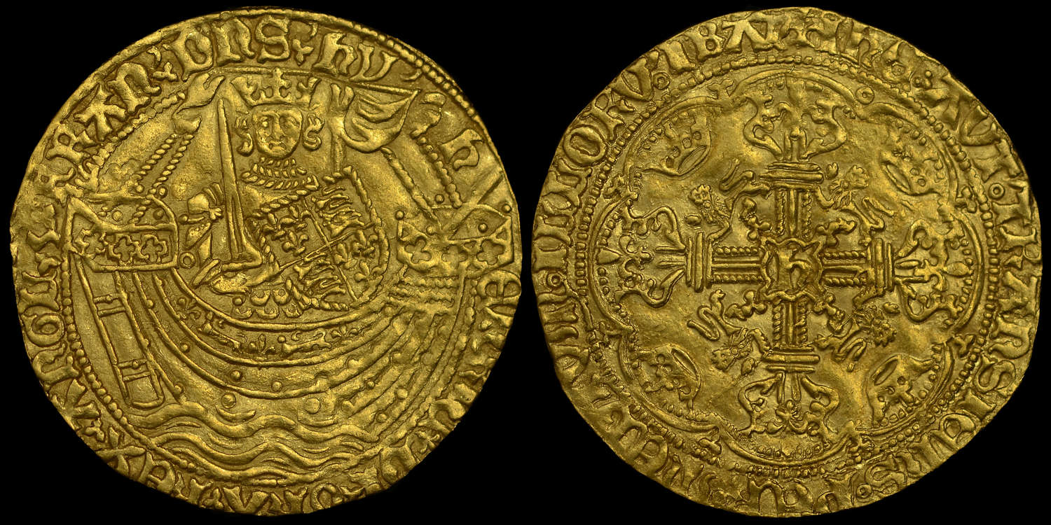 HENRY VI GOLD NOBLE, FLEMMISH ISSUE MS 62