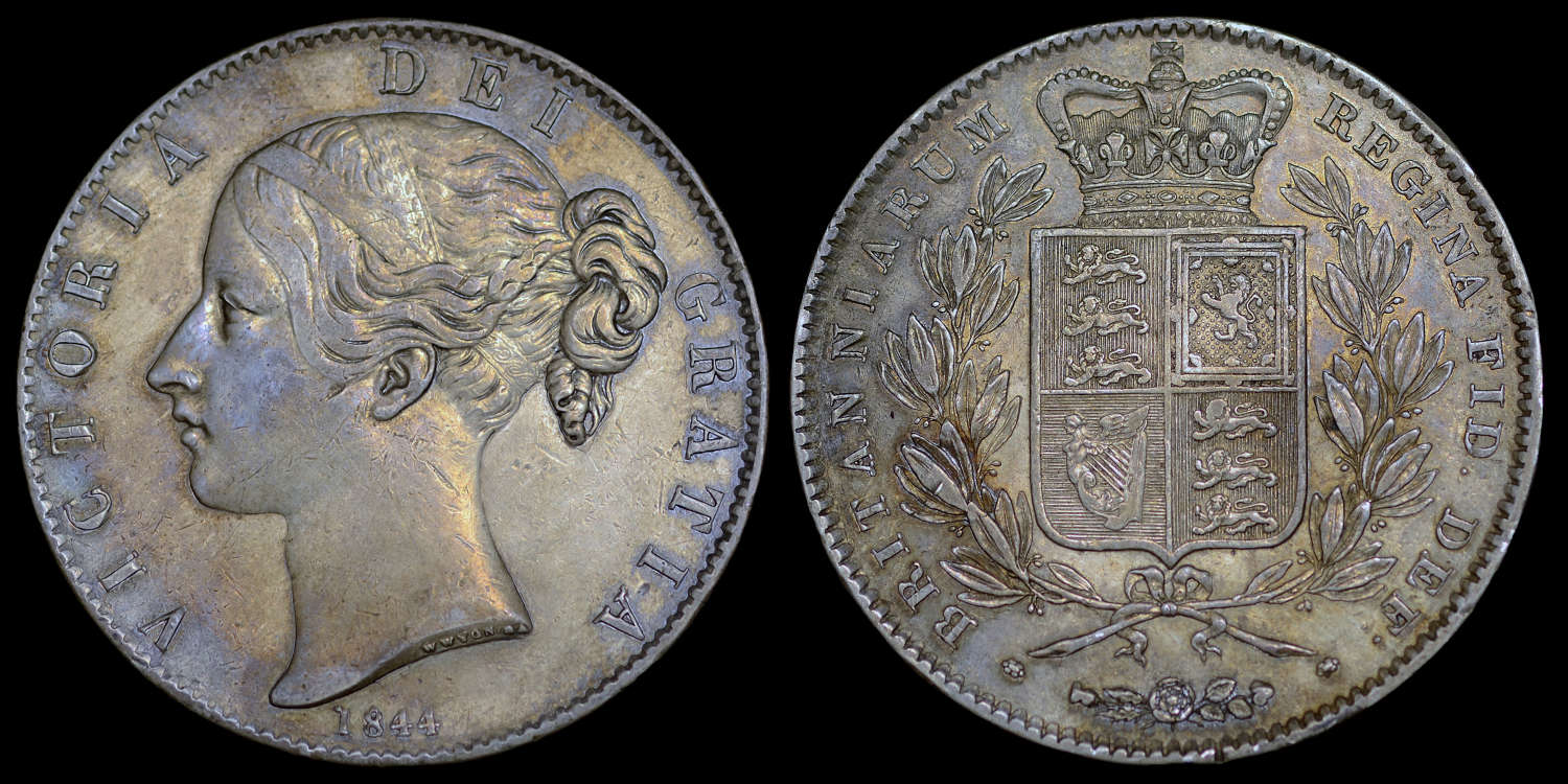 VICTORIA 1844 PATTERN CROWN, FROM THE UNFINISHED DIE