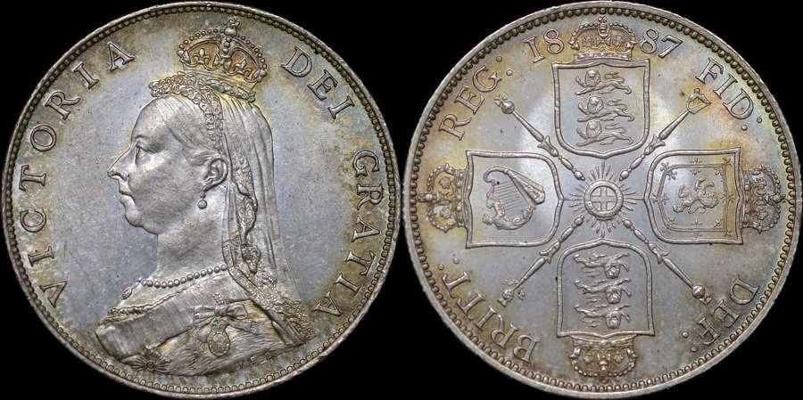 VICTORIA 1887 SILVER FLORIN