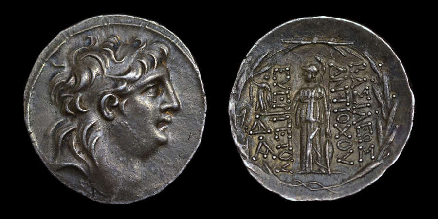 SELEUKID KINGDOM, ANTIOCHOS VII, SILVER TRTRADRACHM
