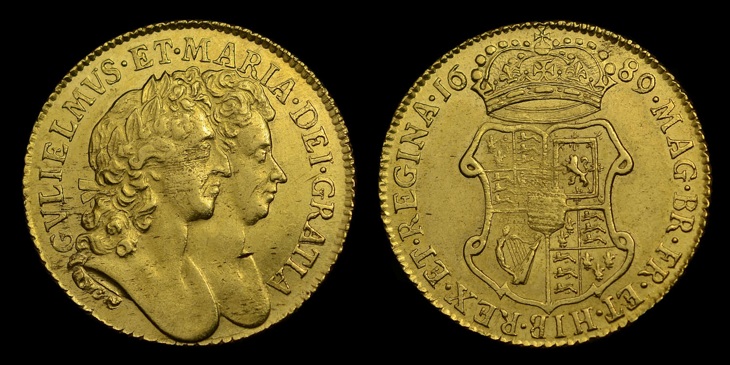 WILLIAM AND MARY 1689 GOLD GUINEA