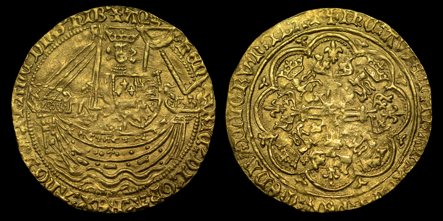 HENRY IV LIGHT COINAGE GOLD HAMMERED NOBLE
