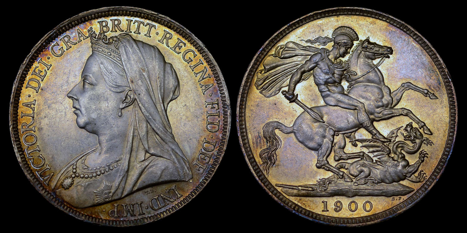 VICTORIA 1900 SILVER CROWN LXIII