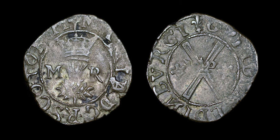 MARY QUEEN OF SCOTS BAWBEE (SIX PENCE)