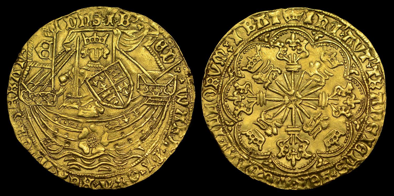 EDWARD IV GOLD ROSE RYAL, LONDON MINT