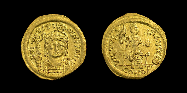 JUSTIN II, GOLD SOLIDUS