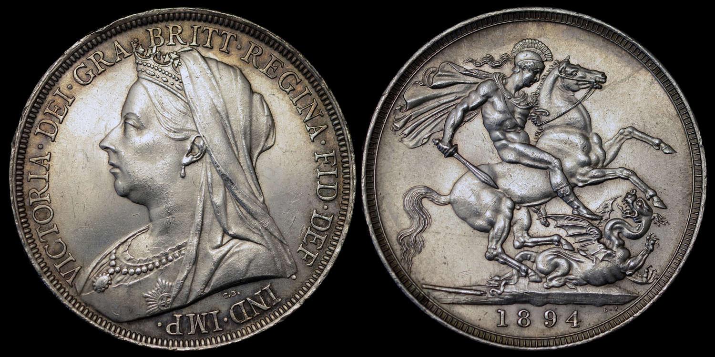 VICTORIA 1894 SILVER CROWN LVIII