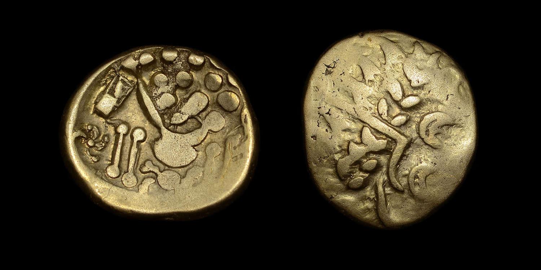 CELTIC COINAGE, BELGAE CHUTE TYPE GOLD STATER
