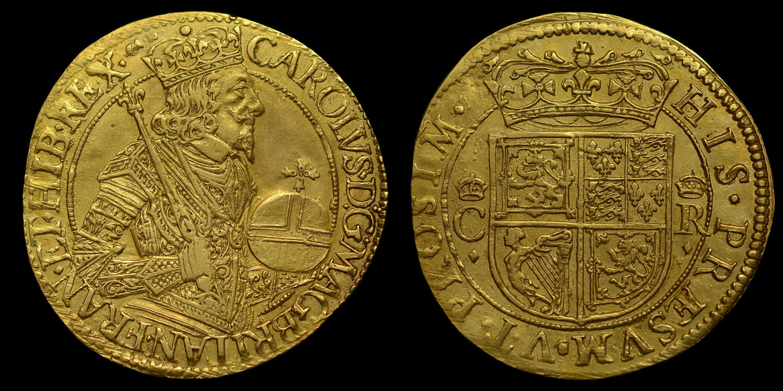SCOTLAND, CHARLES I BRIOT HAMMERED GOLD UNIT