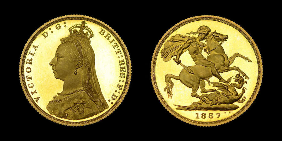 VICTORIA, 1887 GOLD PROOF SOVEREIGN, JUBILEE ISSUE, PF64+ ULTRA CAMEO