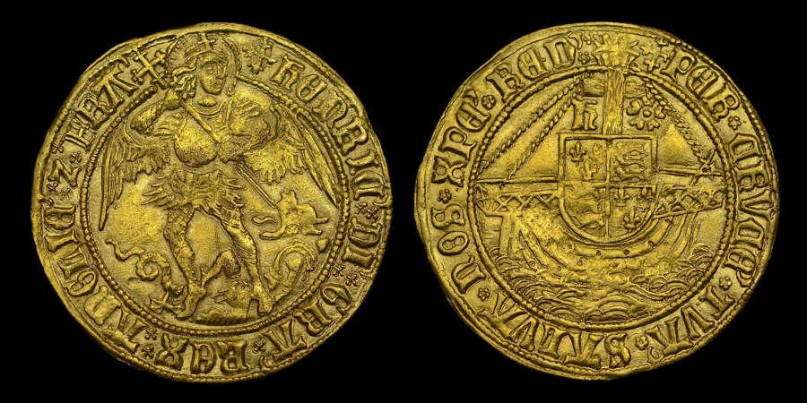 HENRY VII GOLD ANGEL, TYPE IV